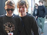 Going grunge! Emma Roberts and boyfriend Evan Peters enjoy casual movie date at The Grove... in matching sweaters
