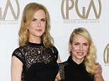 Firm friends: Nicole Kidman and Naomi Watts arrive at the Producers Guild of America Awards in Beverly Hills