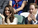 Tennis fan: The Duchess of Cambridge, pictured with Prince William at Wimbledon in 2012, has been a regular at the Royal Box in Centre Court in the past few years