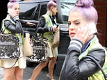 Kelly Osbourne steps out with sparkling handbag... but where's her 'engagement ring'?
