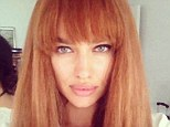 Unleash the redhead: Irina Shayk showed off her new look on Twitter on Saturday morning