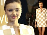 Gorgeous: Miranda Kerr looked spectacular in a very short dress