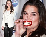 Brooke Shields at the Garden of Laughs Comedy Benefit in Madison Square Garden, New York