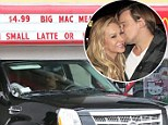 Picking up a Happy Meal? Adrienne Maloof and her toy boy lover Sean Stewart have a not so romantic lunch date at McDonald's