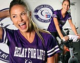 Stacy Keibler on her bike for a charity ride
