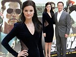 She's at it again! Jaimie Alexander steals thunder from Arnold Schwarzenegger in plunging velvet dress... at photo call in Rome for The Last Stand