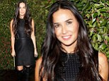 Demi Moore is sexy in a black dress and racy leather boots... but leaves Chateau Marmont alone after night of partying solo