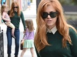 Isla Fisher and Her Kids Have Lunch at Terroni