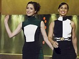 Style sisters: Rose Byrne and Alicia Keys go for similar panelled turtle-neck dresses for Jonathan Ross Show appearance