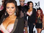 It takes some doing! JWoww finally manages to outshine Snooki in bra-baring outfit