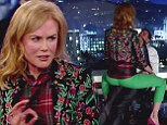 'Jimmy f***ing sucks!' Nicole Kidman helps Matt Damon 'kidnap' Kimmel... before treating bound and gagged host to a lapdance