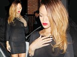 What's the point in wearing anything? Rihanna hits the club in a COMPLETELY see-through dress