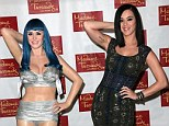 Will the real Katy Perry please stand up? Singer Katy Perry strikes a pose with wax figure at Madame Tussauds in Hollywood