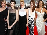 The black and white of it! Claire Danes, Anne Hathaway Julianne Moore and Sofia Vergara lead the way as Hollywood's leading ladies go mad for monochrome on SAG Awards red carpet