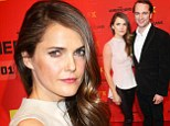 Skinny Minnie! Keri Russell looks tiny in her peplum top and leather trousers at The Americans screening