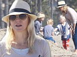 Beauty and the beach! Naomi Watts looks great as she enjoys family day at the seaside