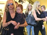 It¿s a generation game: Kimberly Stewart and her daughter Delilah join her mum Alana for a girls¿ day out
