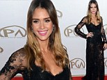 Jessica Alba sizzles in sheer lacy Elie Saab gown at Producer's Guild Awards
