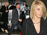 Date night! Julianne Hough is hot to trot in all-black ensemble as she enjoys a romantic dinner with Ryan Seacrest