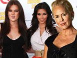 'That is completely false and horrible': Robert Kardashian's widow hits back at Kim and Khloe after they labelled her 'trash'