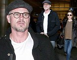 Eric Dane and Rebecca Gayheart at LAX airport in Los Angeles on Saturday