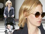 Back to blonde! January Jones sports short blonde hair as she returns to Los Angeles with son Xander after fronting film Sweetwater at Sundance