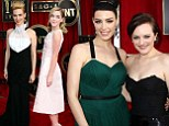 The glamour lives on! The cast of Mad Men bring a touch of vintage Hollywood style to the red carpet at the SAG Awards
