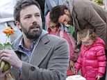 Ben Affleck is the prefect husband and father as he takes daughters to the Farmers Market and buys red roses for Jennifer