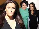 She's making strides! Eva Longoria looks ready to step into the political spotlight in a sexy black jumpsuit for sit-down with Supreme Court Justice Sonia Sotomayor