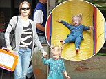 Faster than a speeding bullet! Man of Steel star Amy Adams treats daughter to go on Super slide