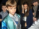 David and Victoria Beckham take a sigh of relief as they take the children for night at show following move from Los Angeles to London