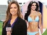 It all paid off! Miss Alabama USA Katherine Webb gets to grips with her newfound fame as she turns Super Bowl reporter