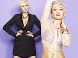 'I never played the Disney game': Miley Cyrus opens up about becoming a bad girl as she flashes her bra and toned tummy