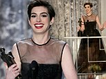 Tearful Anne Hathaway scoops Best Supporting Actress for Les Miserables at SAG Awards