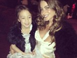 Good taste: Sofia Vergara and her young Modern Family co-star Aubrey Anderson-Emmons in a candid WhoSay photo