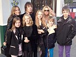 Birthday treat: Liam takes his niece Anais for lunch with her mum Meg Matthews, his wife Nicole Appleton and his sons Gene and Lennon, as well as two of Anais' friends