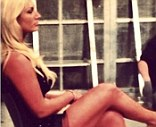 Revealing: Hulk Hogan tweeted this picture of his daughter with the caption 'Brooke's legs'