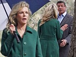 Like an old married couple! Kim Basinger argues with Sylvester Stallone on set of Grudge Match