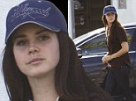 Lana Del Rey goes make-up free as she returns to the recording studio to work on hotly-anticipated new material