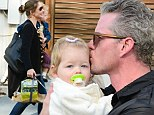 What doting parents! Eric Dane and wife Rebecca Gayheart lavish attention on their girls during family's day out