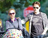 Maternity leave: True Blood star Anna Paquin and Stephen Moyer head out with their twins on Saturday
