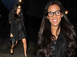 That's a bit over-dressed for a radio show! Pregnant Rochelle Humes is dressed to the nines as she arrives for breakfast interview