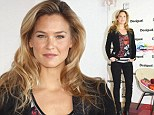 Keeping it cool: Bar Refaeli cuts a laid back figure as she makes an appearance during Barcelona Fashion Week