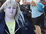 In the zone! Rebel Wilson's fitness regime pays off as she sets to work on the set of her new comedy pilot... Super Fun Night