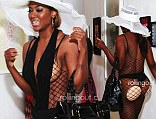 Doing little to halt speculation over her mental wellbeing, Kenya decided to mock Phaedra by arriving for a shoe launch charity event wearing little more than a fishnet stocking.