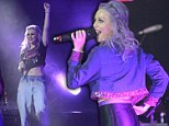 The show must go on! Perrie Edwards takes to the stage with Little Mix after meeting up with Zayn Malik in wake of cheating claims
