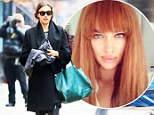 It was only a wig! Irina Shayk steps out with brunette locks just three days after unveiling fiery red hair