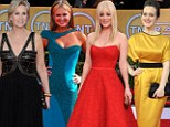 Flamboyant failures: Jane Lynch, Sigourney Weaver and Kaley Cuoco top worst dressed list at the SAG Awards