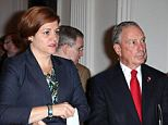 When a reporter and a friend were introducing themselves to Mayor Michael Bloomberg, seen here with his likely successor Christine Quinn, he ignored them and focused solely on the derriere of another guest.