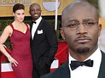Before the drama: Taye Diggs and his wife Idina Menzel at the SAG Awards in LA on Sunday night